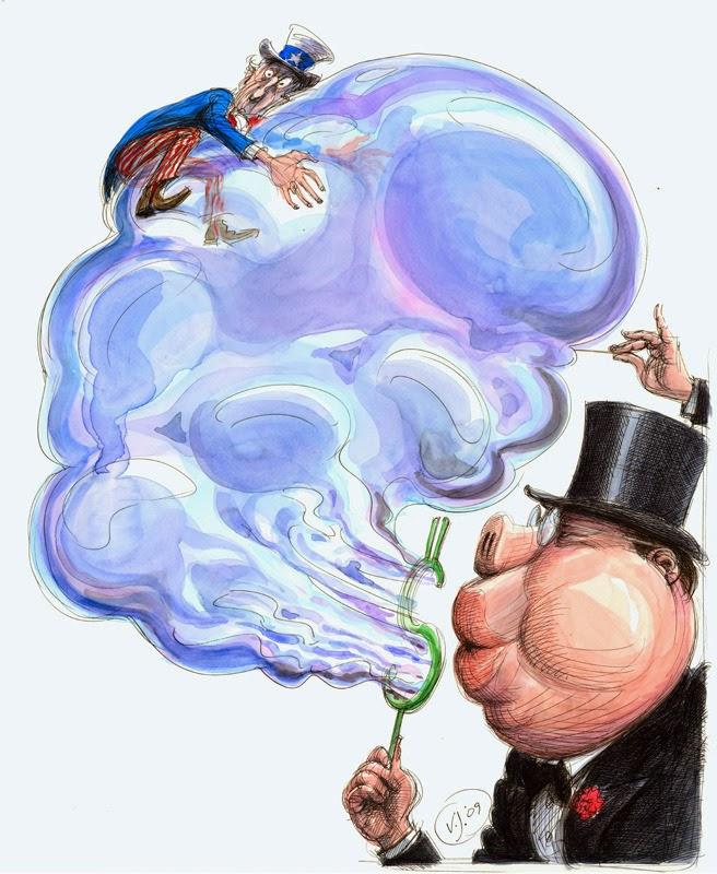 burbuja financiera, burbuja económica, engaño del dinero