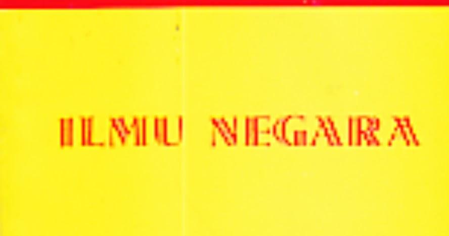 TOKO BUKU RAHMA: ILMU NEGARA