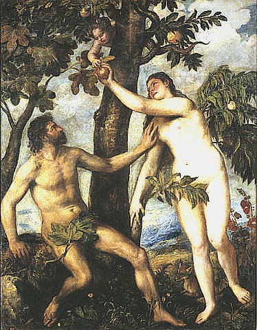 eve painting michelangelo Adam and