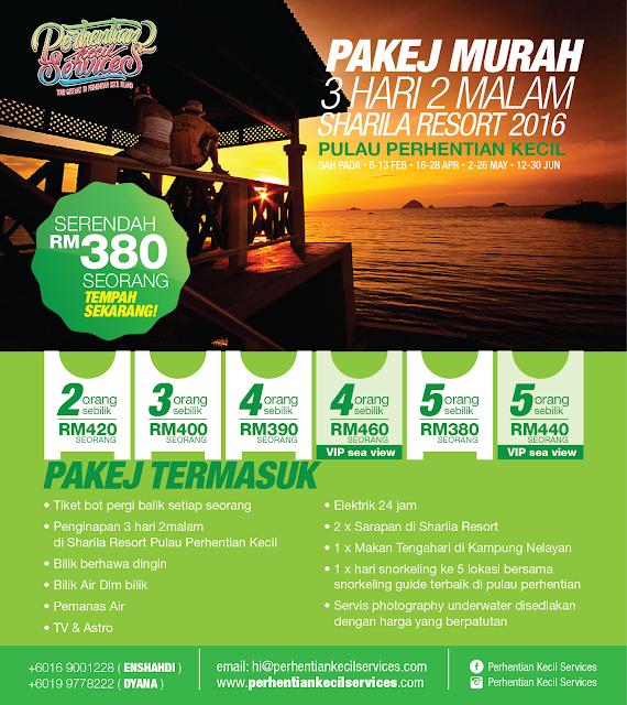 Pakej serendah rm 380  Pulau Perhentian Murah 2016 , 2017 , 2018