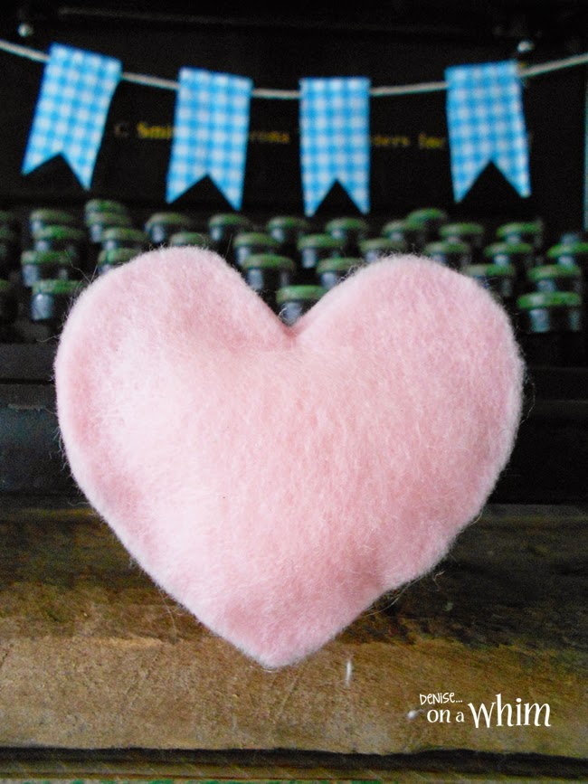 Puffy Felt Heart DIY from Denise on a Whim