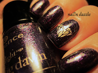 essence, polish, twilight, breaking, dawn, purple, glitter, diamond, bundle, monster, stamp, gold