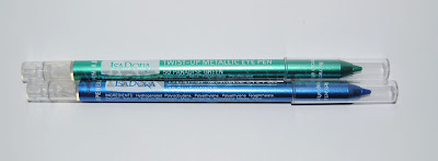 Isadora Twist up metallic eye pen 49 Blue Hawaii y 50 green paradise