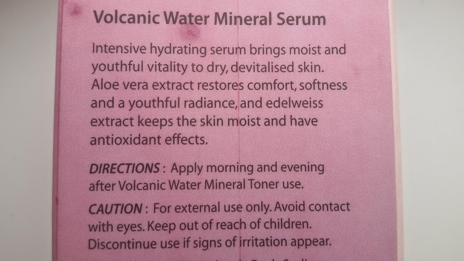 The Skin House Volcanic Water Mineral Serum: описание
