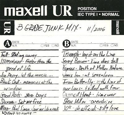 B Grade Junk Mix 11/2006 - Mix Tape