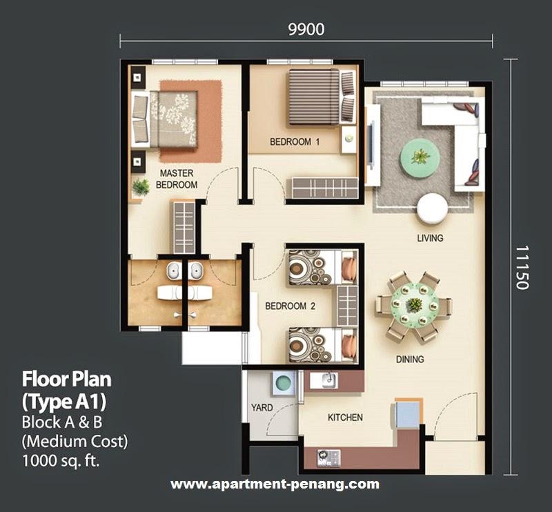 Suria Apartment Hijau E Komuniti Apartment Penang Com