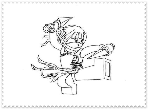 Ausmalbilder zum Ausdrucken Ninjago