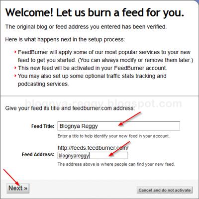 cara daftar feedburner dengan mudah