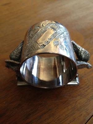 Eagles Figural Victorian Napkin Ring Meridian Britannia Company