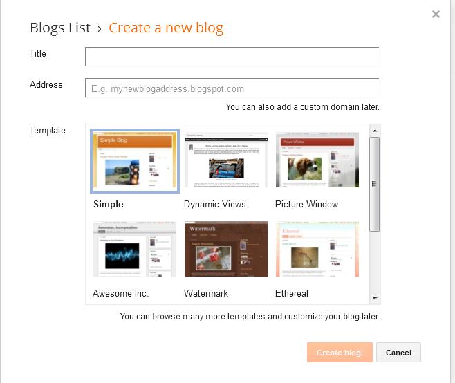 create blog
