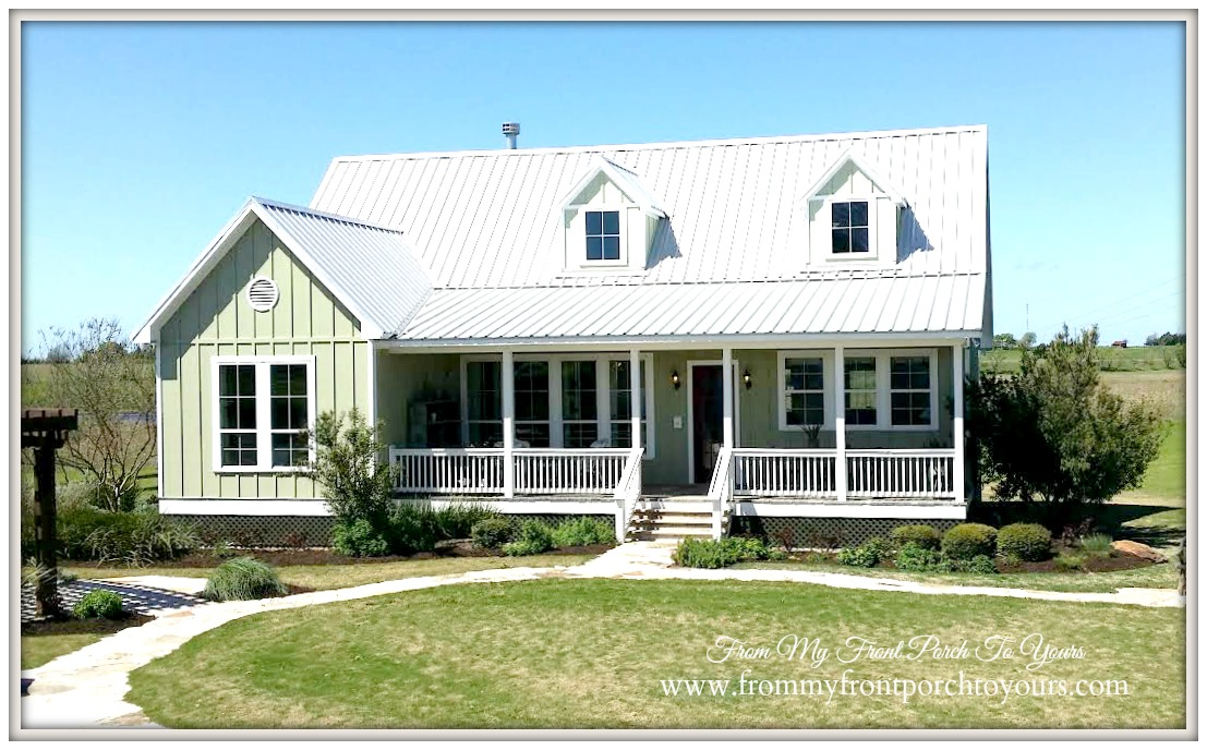 From my front porch to yours farmhouse model home tour for Texas farmhouse plans