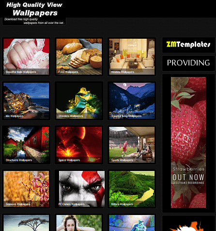 black gallery wallpaper blogger template 2014 for blogger or blogspot,black blog theme,seo friendly blogger template,ads ready blogger template 2014 2015