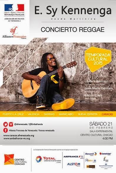 flyer sy kennenga reggae concierto venezuela caracas chacao