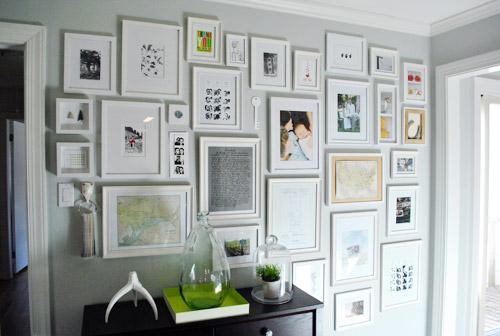 black and bleu designs gallery frame wall. Black Bedroom Furniture Sets. Home Design Ideas