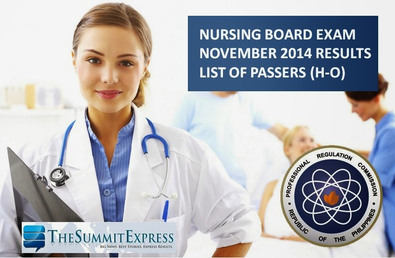 H-O Passers: NLE Results November 2014 Alphabetical List