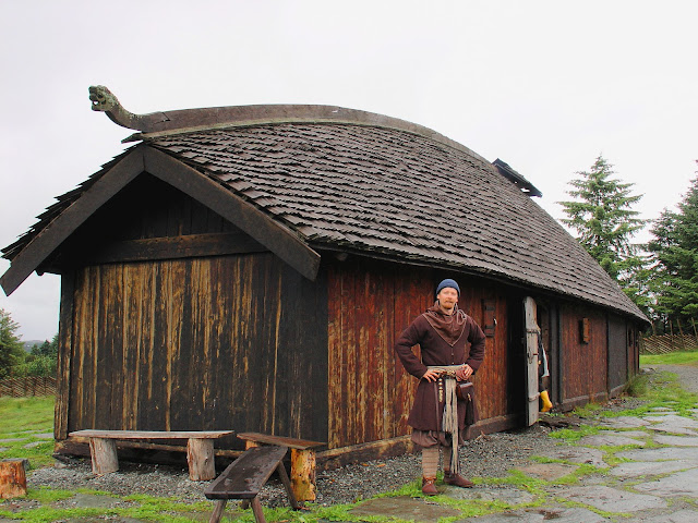 Could this be William the Longhair or just our Viking guide at the Viking Settlement just a short walk from the Nordvegen History Center at Avaldsnes?