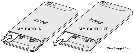 Insert Remove SIM Card on HTC One V