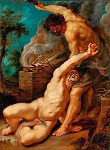 Why band name Avenged Sevenfold - Peter_Paul_Rubens_-_Cain_slaying_Abel,_1608-1609