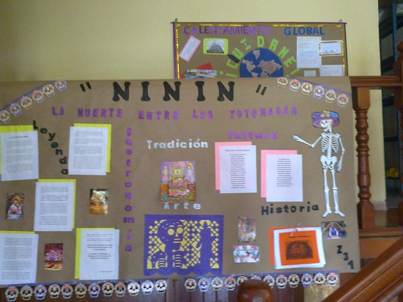 Telesecundaria papantla d a de muertos elaboraci n de for Como elaborar un periodico mural escolar