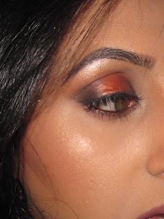 mac, blog, eyeshadow, look, tutorial, asian, indian, bride, bridal, coppering, carbon, black, lashes
