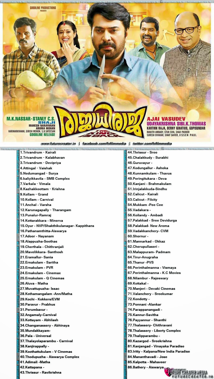 Rajadhi Raja Releasing Centers ,Theater List, Preview