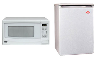 igloo refrigerator and galanz microwave bundle