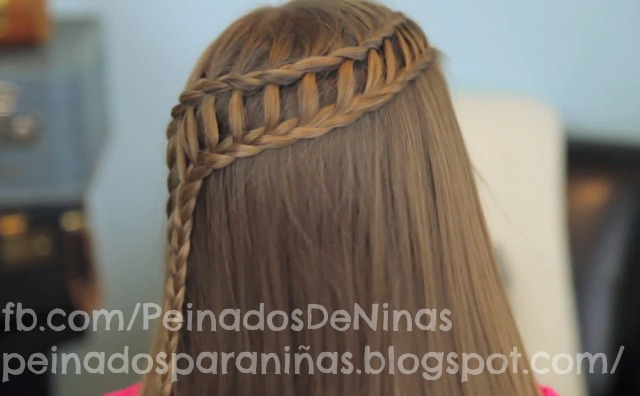 peinados con trenzas cascada para nias simple y doble