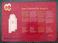 Plafó explicatiu a Sant Sadurní de Rotgers