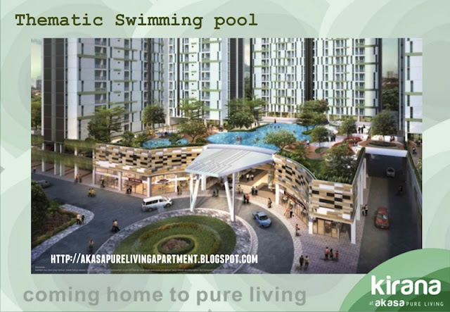 Thematic Swimming Pool Akasa Pure Living BSD Apartment