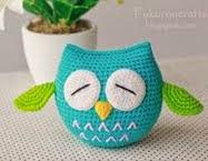 Croche Owl Doll : ตุ๊กตา ถัก โครเชต์ นกฮูก