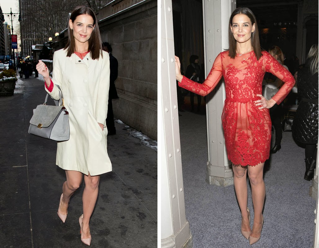 Katie Holmes Red Dress, Tyra Banks, Katie Holmes
