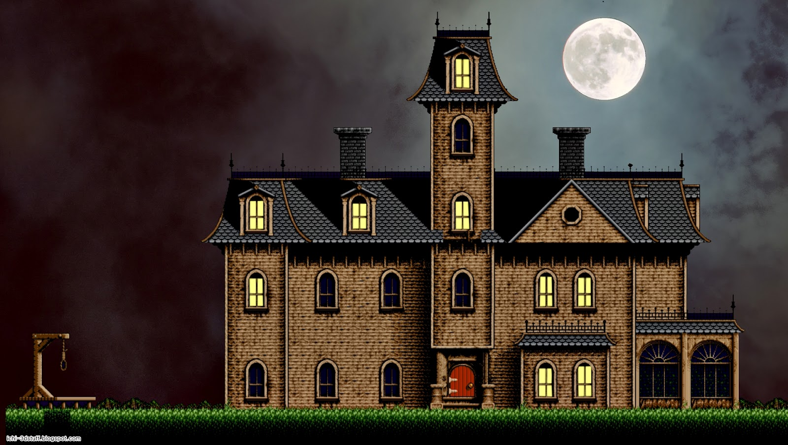 Art And 3d Stuff Addams Family House Snes Rip