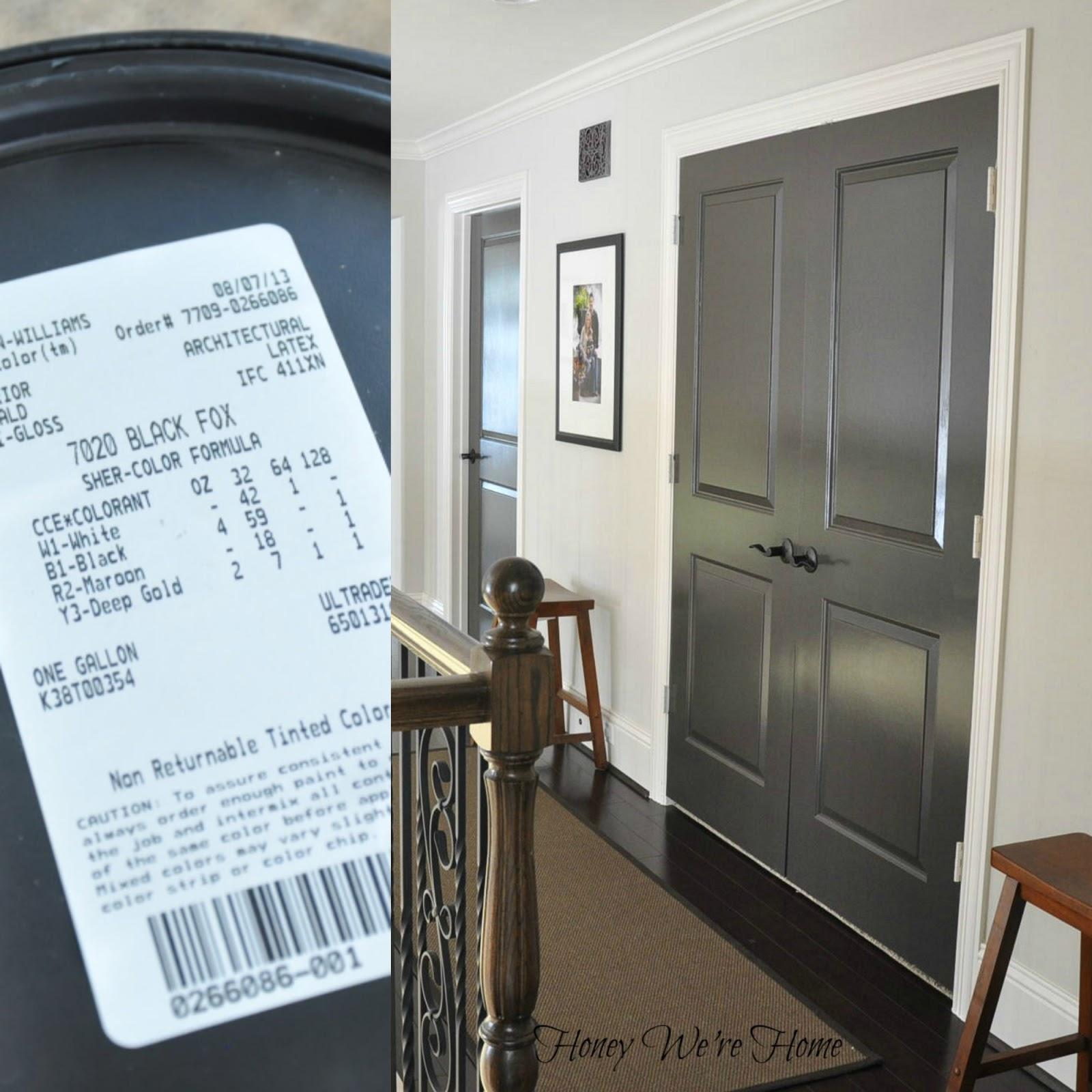 Painted Dark Grey Doors Honey We 39 Re Home