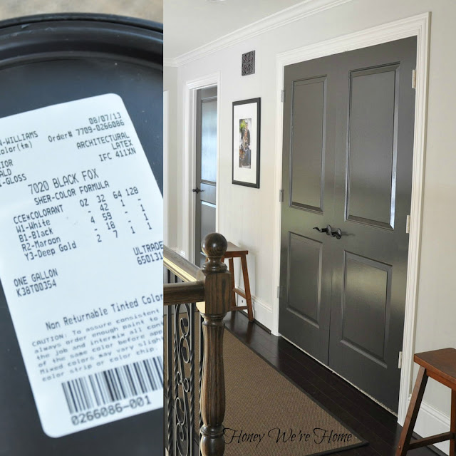 Honey we 39 re home painted dark grey doors for Dark grey interior