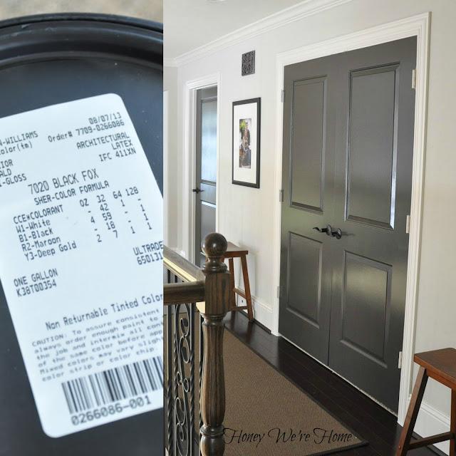 Honey We 39 Re Home Painted Dark Grey Doors