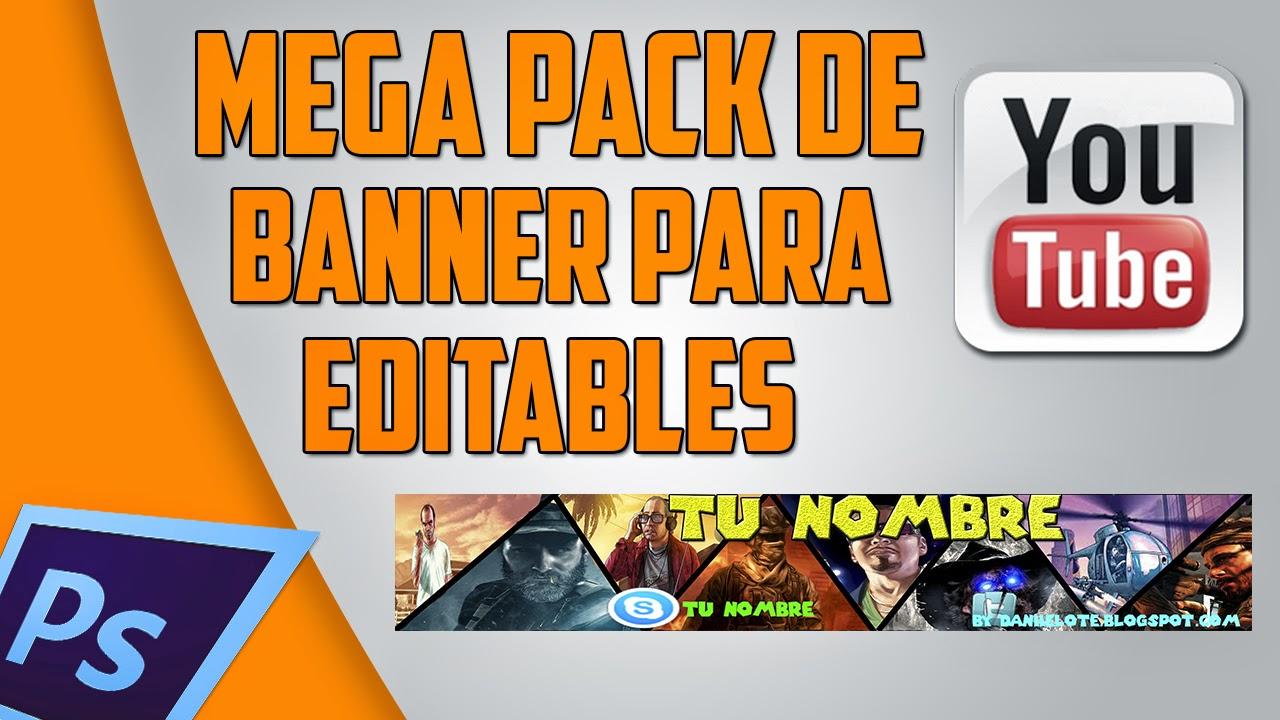 Daniel Online Tutoriales Español: Banner Editables para YouTube