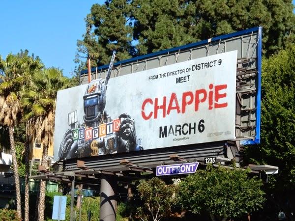 Chappie film billboard