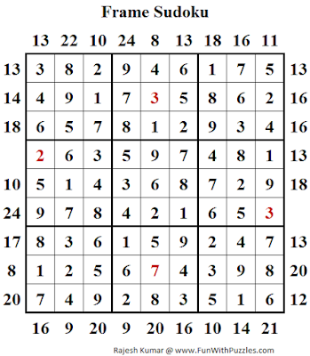 Answer of Outside Sums Sudoku (Fun With Sudoku #117)