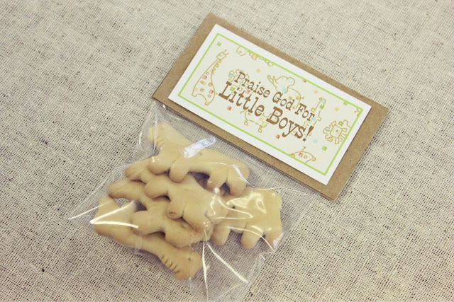 Baby Shower Favors With Animal Crackers ~ Animal cracker baby shower the deyounge life