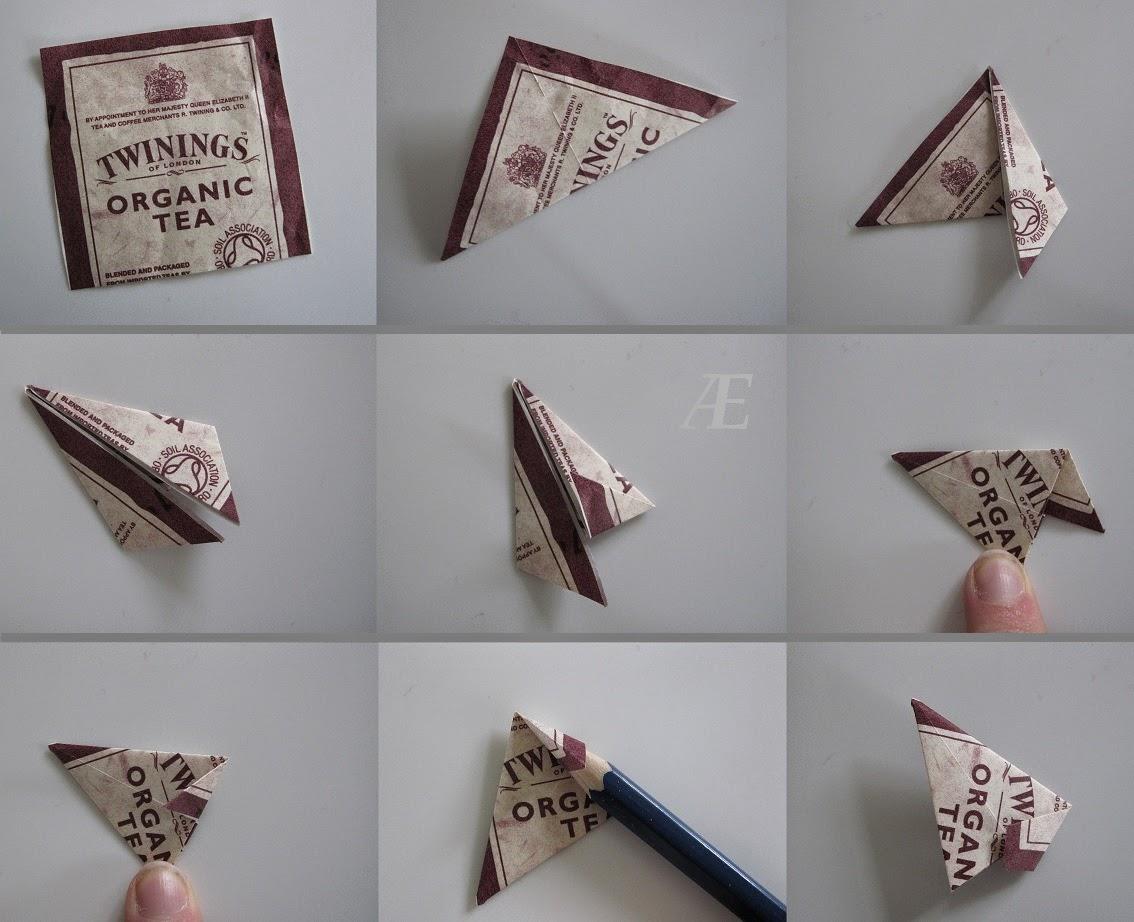 DIY, origami stjerne af tebreve