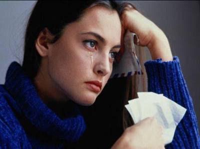foto mulher chorando
