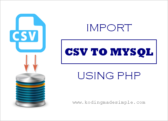 php script import csv into mysql database