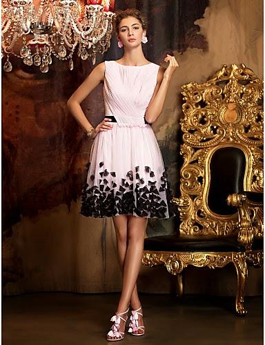 Vestido Coctel Mini Falda Chifón
