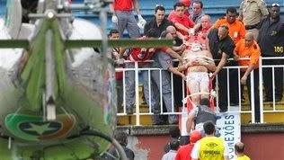 Brazilian league match Violence