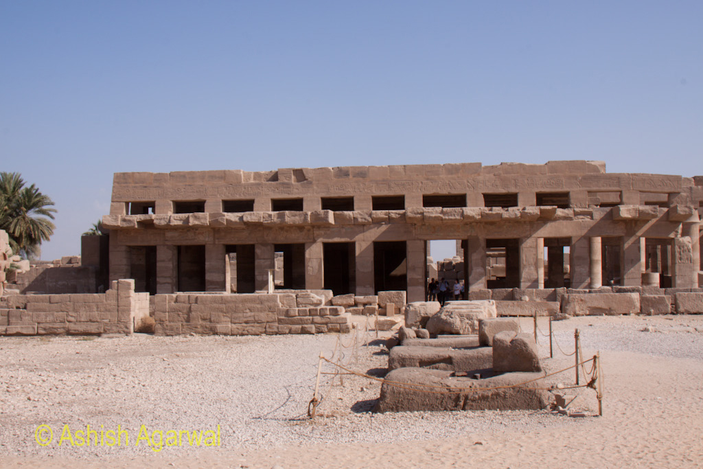Structures inside the Karnak temple in Luxor, looks in good shape