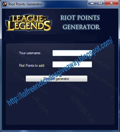 League of legends rp code giveaways images