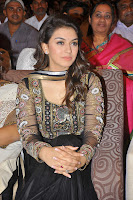 Hansika Motwani in designer Black Dress at Doosukeltha Telugu Movie Audio Launch