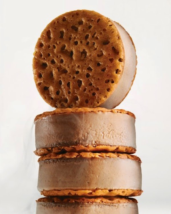 Chocolate creme brulee ice cream sandwiches