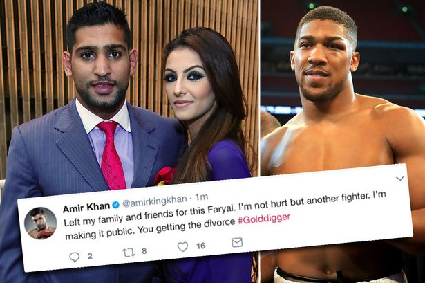 World Heavyweight Champion Anthony Joshua Has Denied Having An Affair With Wife Of Professional Boxer Amir Khan