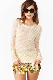 Vintage nude colored Missoni thermal knit sweater.